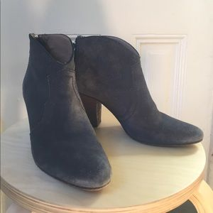 Jigsaw London blue suede Chelsea booties 39