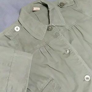 Lightweight cotton button up jacket