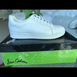 Sam Edelman white sneakers 7.5 NEW