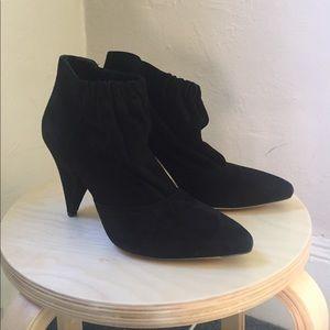 Loeffler Randall black suede booties 8