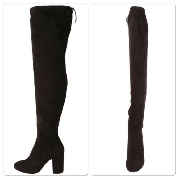 8f28c7b105a0 Black thigh high boots size 8 😍