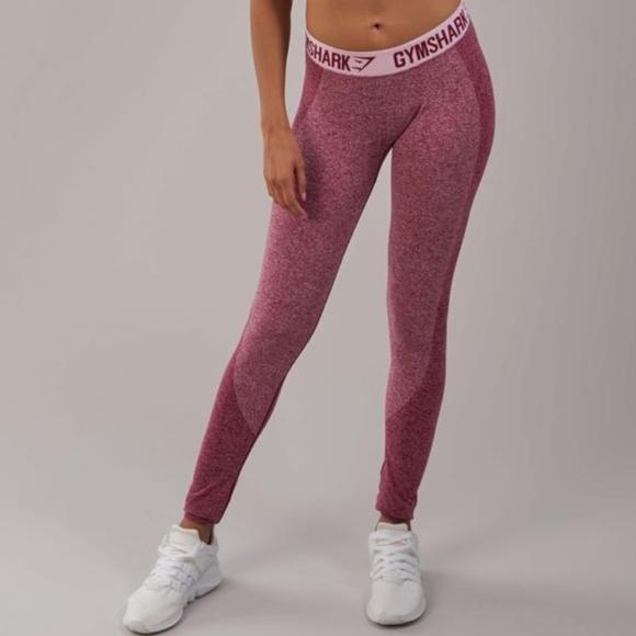 7120ad4bef18b GYMSHARK Pants   Flex Leggings Beet Marlchalk Pink   Poshmark