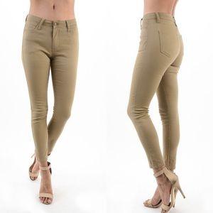"""""""Cammy"""" Khaki Skinny Jeans"""