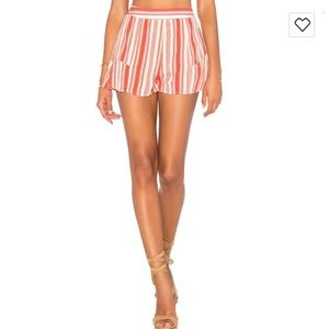 Band of Gypsies Stripe Ruffle Shorts