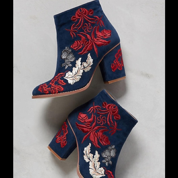 4cb95328035406 Anthropologie Shoes - Billy Ella embroidered ankle boots - 9.5