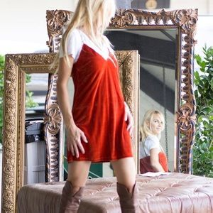 Missguided Velvet Slip Dress