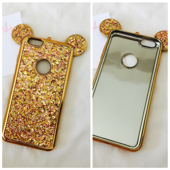 reputable site 5bf8d 12211 Iphone 6+ 6s+ Gold Mickey Ears Bling hard case Boutique
