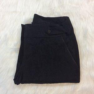 Loft NWT Printed Black Floral Pants