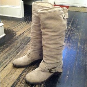 Kelly and Katie Suede Boots with Shearling