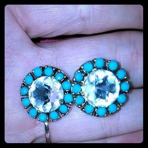 🆕*Stunning Rhinestone & Turquoise Studs*🆕