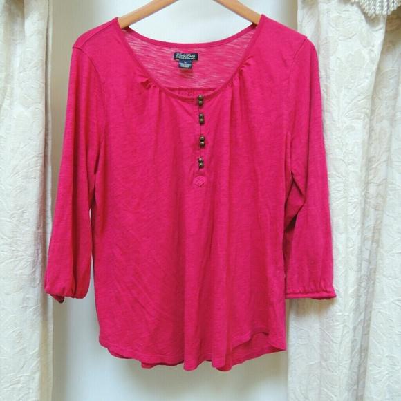 12fa88435e861c Lucky Brand Tops | Fuschia Pink Blouse Obo | Poshmark
