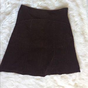 A line midi corduroy skirt