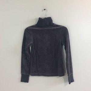 Club Monaco Velvet Turtle Neck Pullover Sweater