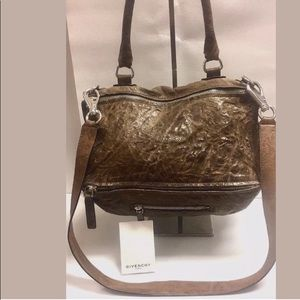 ♦️SOLD♦️GIVENCHY Pandora  Charcoal Brown Shoulder