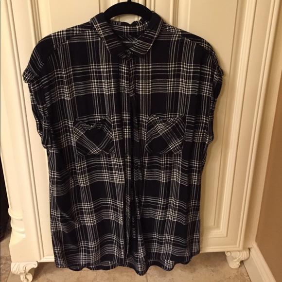 d7348e12304734 Rails short sleeve black and white plaid shirt. M_59f275609c6fcf88fc004e2e