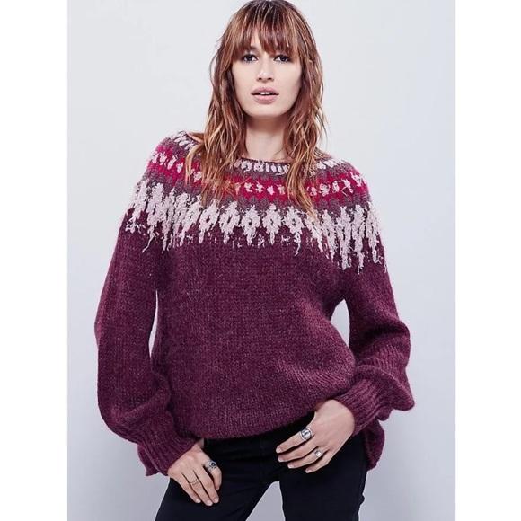 73% off Free People Sweaters - Free People Baltic Fair Isle ...