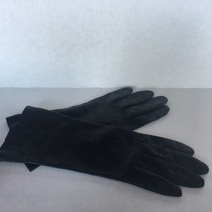 Other - Leather gloves lined with 100% silk