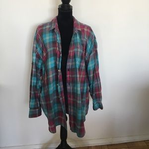 Oversized 80's colors flannel