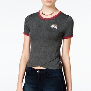 Revellious One dark grey rainbow graphic shirt