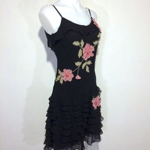 Vintage stunning Sue Wong dress with pink roses