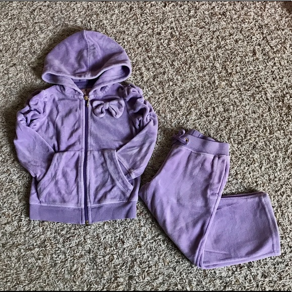 Magnificent Baby Velour Pants Jacket Two Piece Set Size 4T NWT Purple Lilac