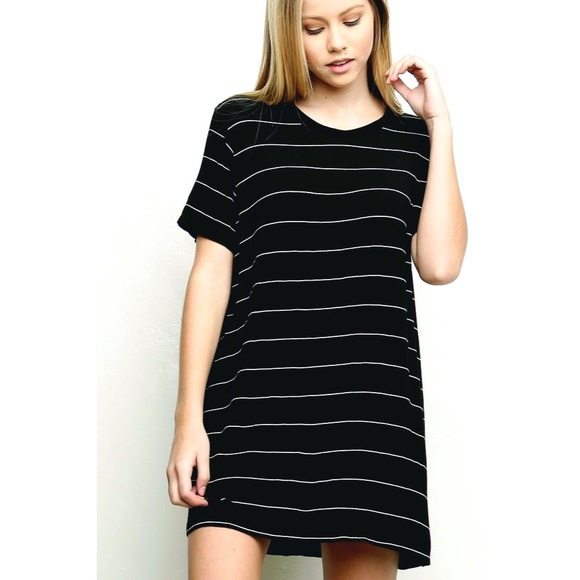 062d76be56 Brandy Melville Dresses & Skirts - Brandy Melville Striped Luana T-shirt  Dress