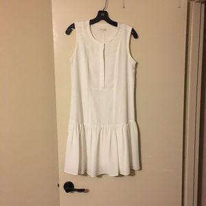 Shoshanna White drop waist dress