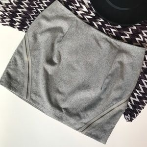 Nordstrom Trouve Exposed Zipper Wool Blend Mini