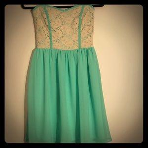 NEW Mystic - Mint Green Strapless Dress