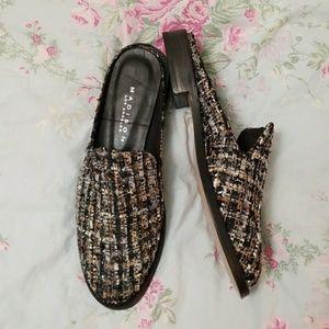 Open back classic slide low heel loafer NEW!
