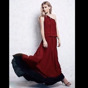 Free People X Cecilia De Bucourt Ombre Chain Dress