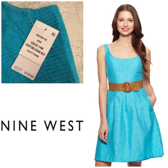 affc4edbd5789 New w  Tags Nine West Fit   Flare Pleated Dress