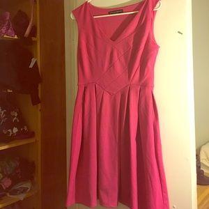 Fushia pleated dress