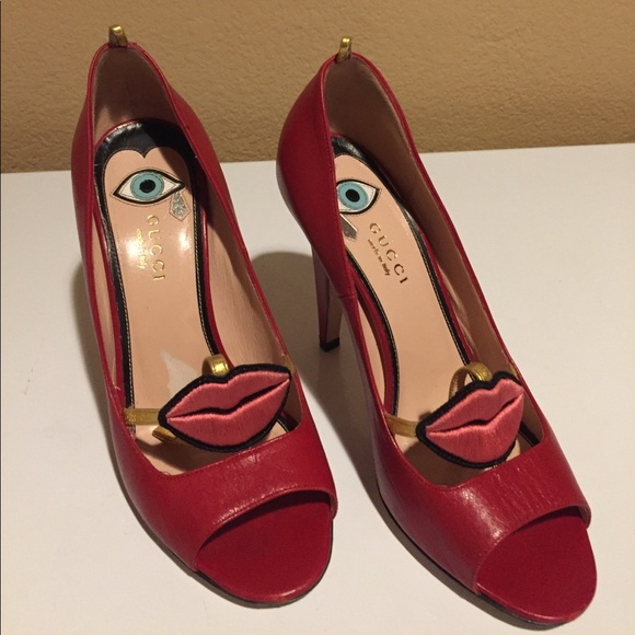 c48baaf70fe6d Gucci Shoes | Authentic Red Lips Heels | Poshmark