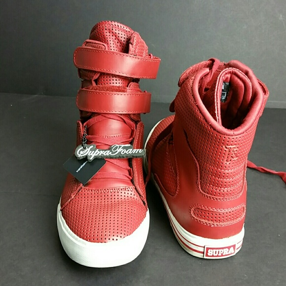 3ee2ef23a289 SUPRA TK SOCIETY RED WHITE MEN S SNEAKERS. M 59f29169d14d7bc47d0007c8