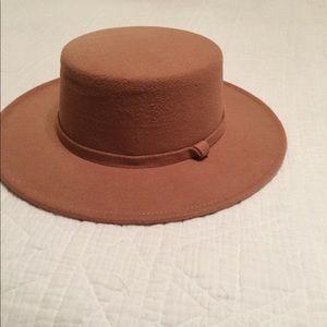 Accessories - Tan Flat Brim Hat