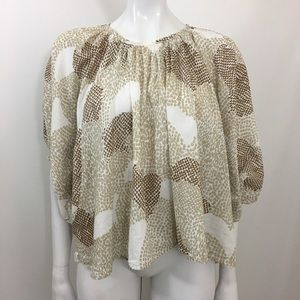 MAEVE Anthropologie Heart Coeurs Dolman Top Small
