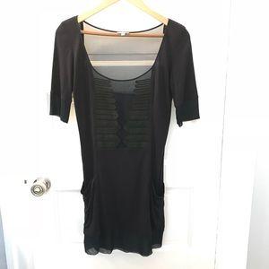FOLEY + CORINNA Sheer and Ribbon Silk Dress
