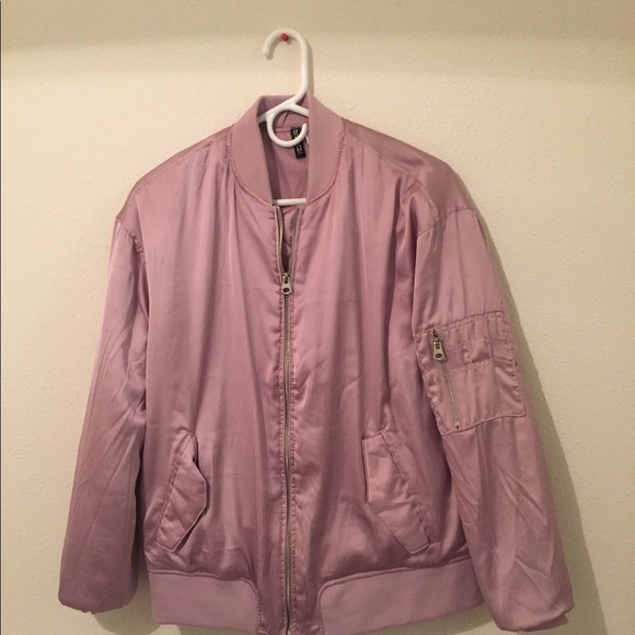 best wholesaler fast color browse latest collections H and M pink bomber jacket never worn size 8