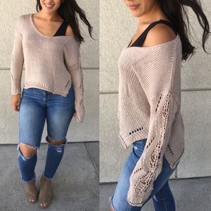 LILITH Distressed Knit Sweater