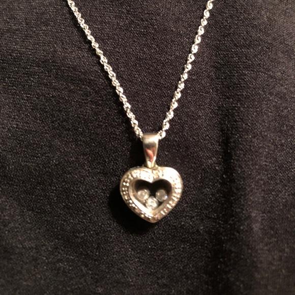 Zales floating diamond heart necklace poshmark zales floating diamond heart necklace aloadofball Images