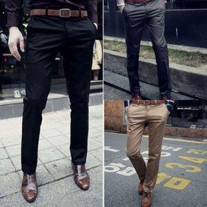 Other - Men Formal Business Dress Pants Slim Fit Straight