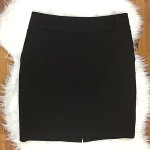 Banana Republic Dark Brown Stretch Pencil Skirt