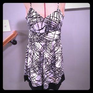 Black and white vintage dress w/ spaghetti straps