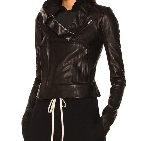 c16d729e4b1 Rick Owens - Classic Leather Biker Jacket. M 59f29a26f739bcd79a00519b