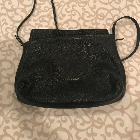 Burberry Handbags - Burberry Leah Black Grainy Leather Crossbody Bag b06c03677d395