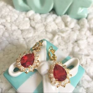 Jewelry - Red Swarovski Crystal Earrings