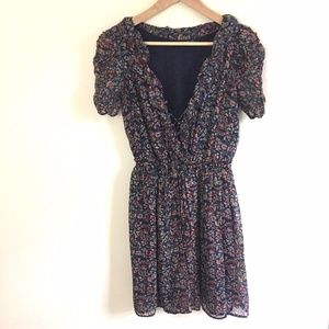 Zara Woman Size Small Dress Blue Floral