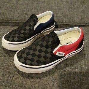 373b47280b Vans Shoes - Vans checkered slip ons size 11 toddler boys shoes