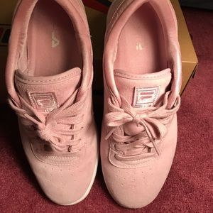 fila pink suede shoes inexpensive 1c8cf